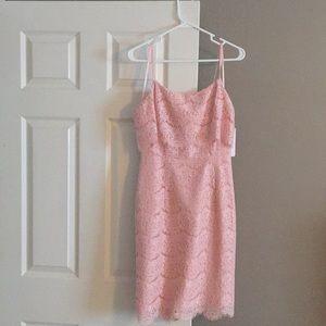 Nanette Lepore pink lace dress size 4